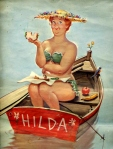 Hilda, la pin up plus size nata dalla matita di Duane Bryers