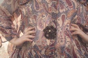 Camicia paisley maniche ampie plus-size