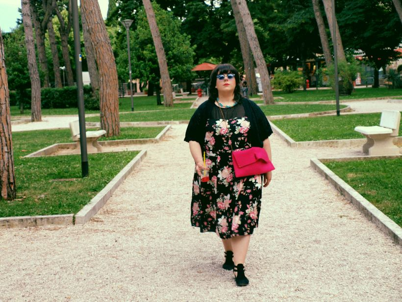 Plus-size floral dress yours clothing